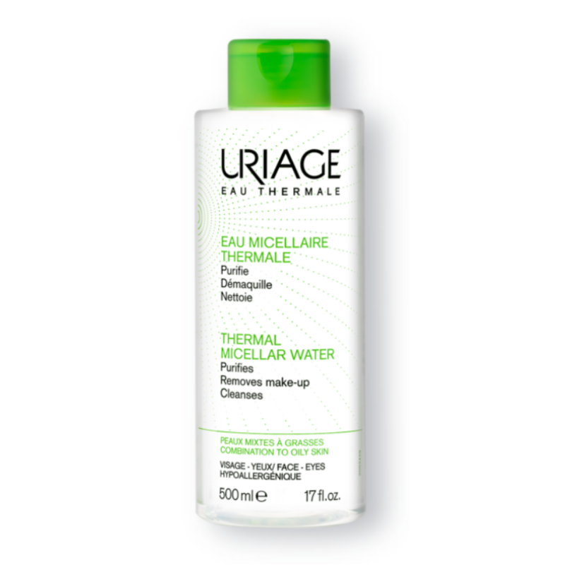 Face Hygiene Thermal Micellar Water Oily Skin Uriage 500ml