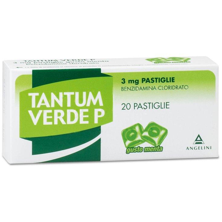 Angelini Tantum Green P 3mg Taste Mint 20 Tablets