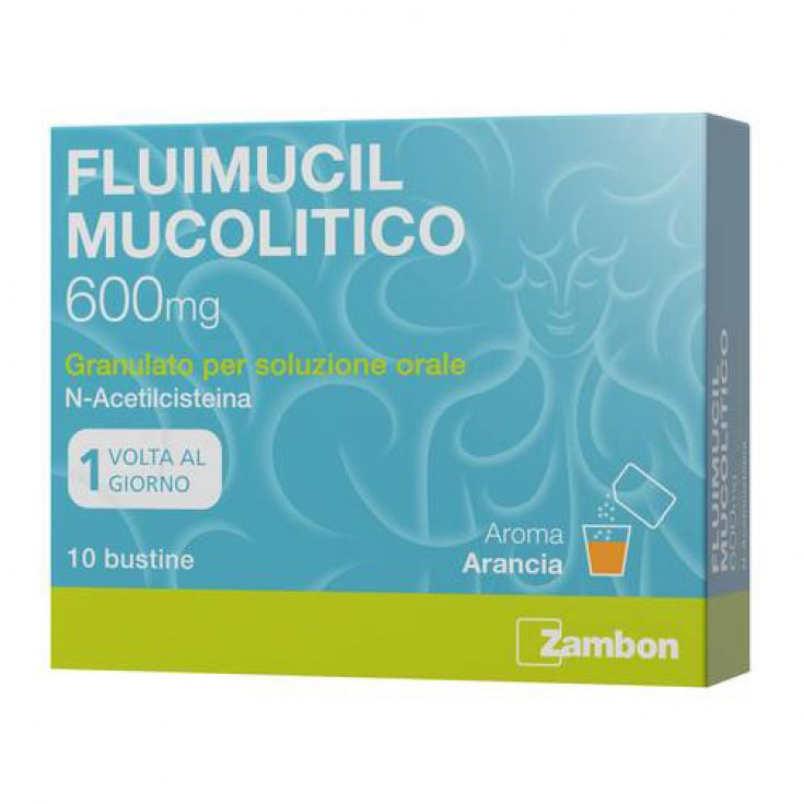 Mucolytic Fluimucil 600mg 10 Bags