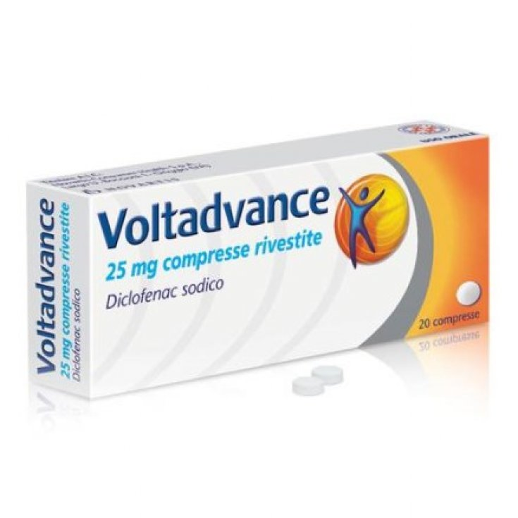 Voltadvance 25mg Medical Device 20 Coated Tablets