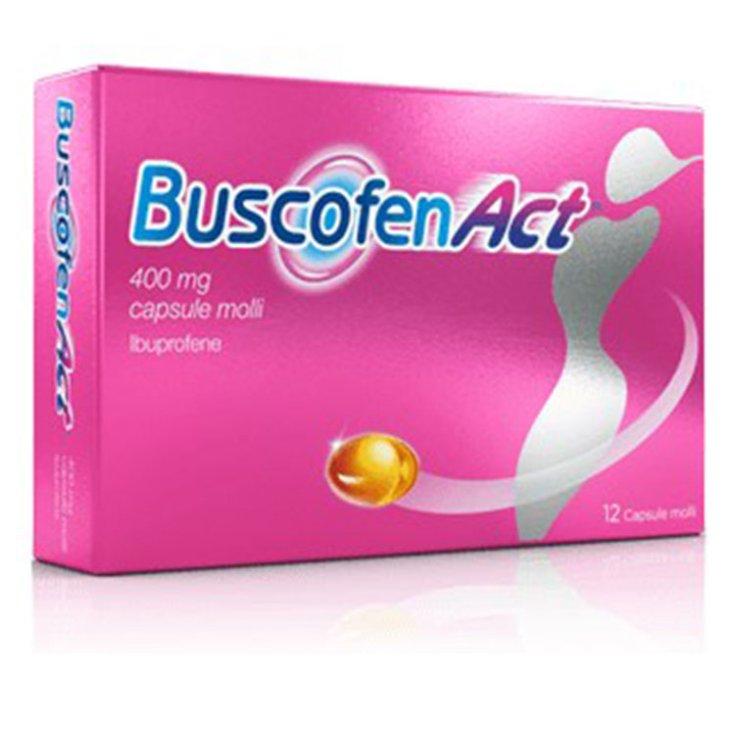 Sanofi BuscofenAct 400mg Ibuprofen Painkiller 12 Soft Capsules