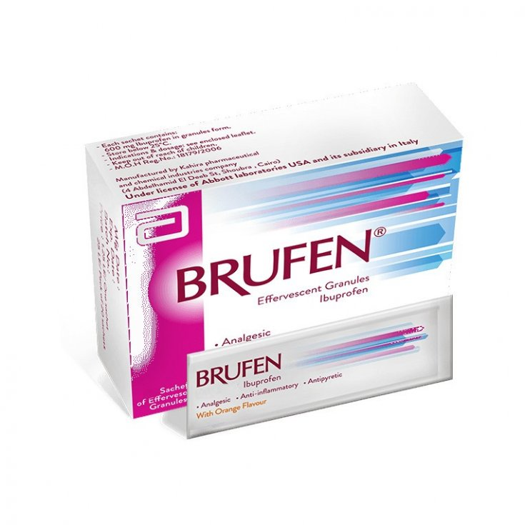 Brufen Pain Granulated Oroluble Medical Device 12 Sachets x40mg