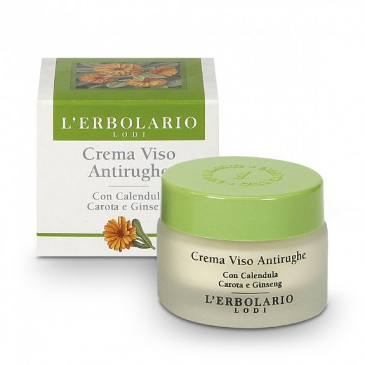 L 'Erbolario Anti Wrinkle Face Cream With Calendula Carrot and Ginseng 30ml