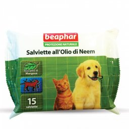 Beaphar Protection Natural Wipes With Neem Oil 15 Pieces