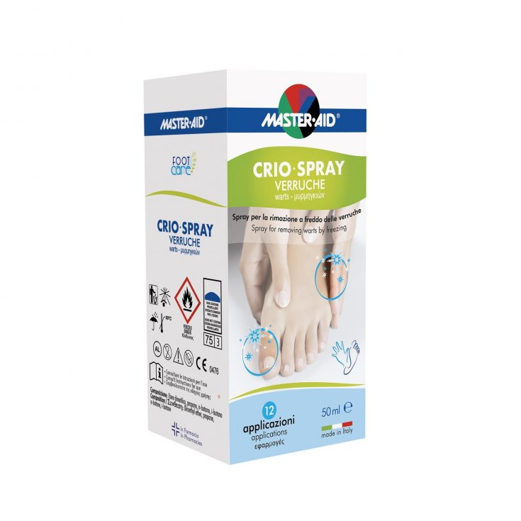 Master-Aid® Cryo-Spray Warts Spray For Cold Removal Of Warts 12 Applications 50ml