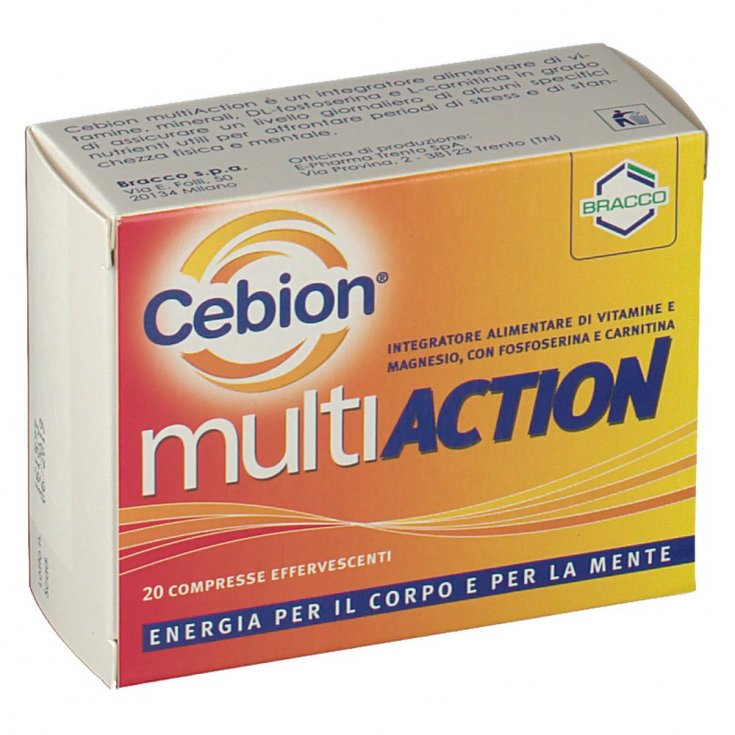 Bracco Cebion Multiaction Food Supplement 20 Effervescent Tablets