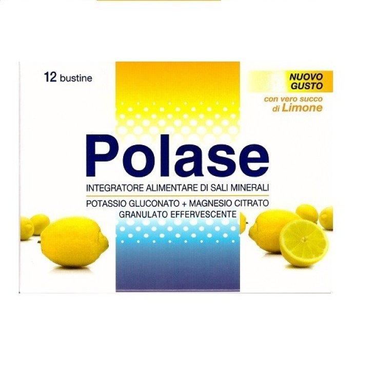 Polase Effervescent Granulated Taste Lemon Food Supplement Gluten Free 12 Sachets