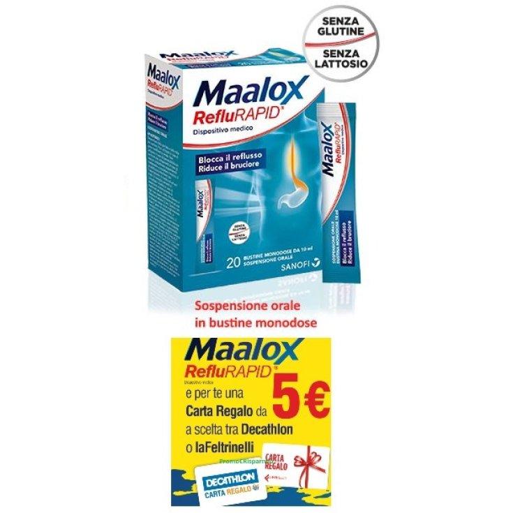 Maalox RefluRAPID Medical Device 20 Sachets Promo Card