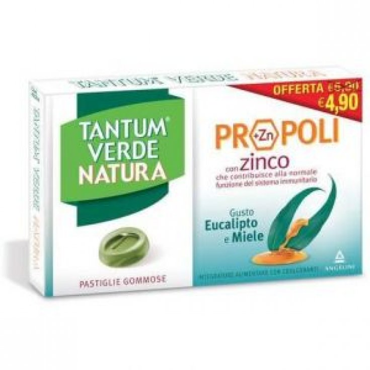 Angelini Tantum Verde Natura Gummy Pads Eucalyptus & Honey 30g