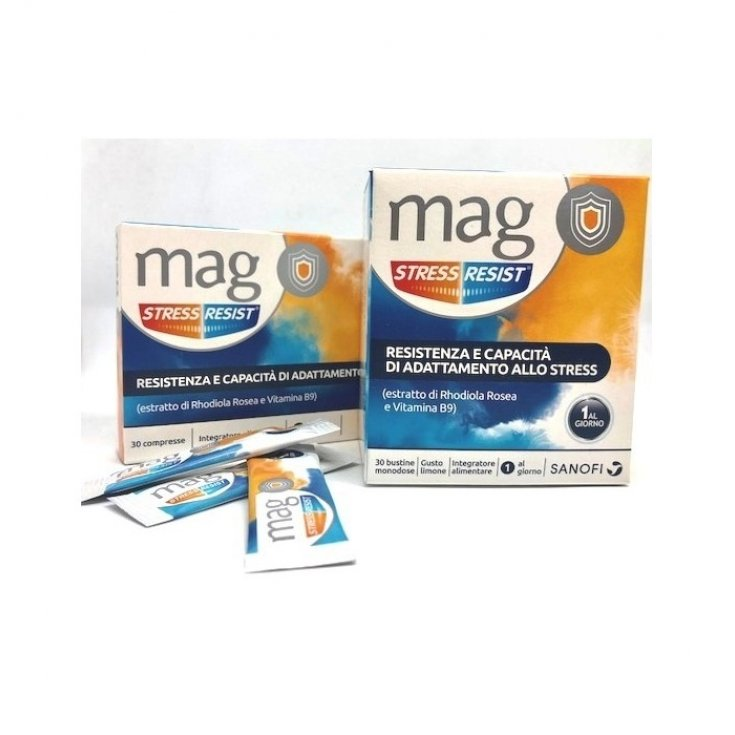 Mag Stress Resist Food Supplement 30 Orosoluble Sachets