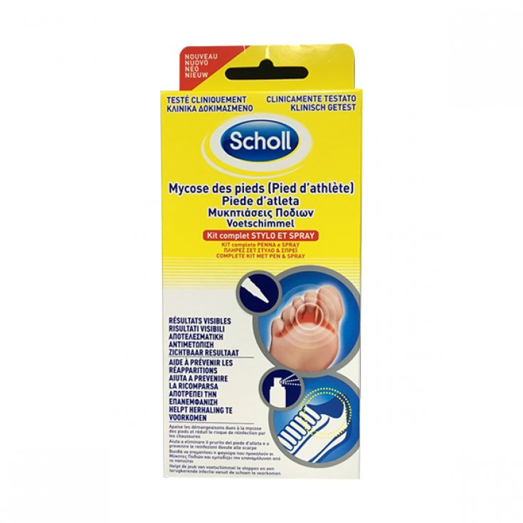 Scholl Foot D 'Athlete Care Kit mycosis Foot Stick 4ml + Spray 10ml