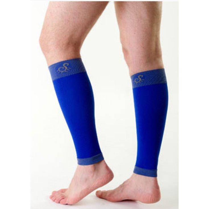 Solidea Active Calf Support Upper Leg Size M Color Sm26 Blue Tonic 1 Piece