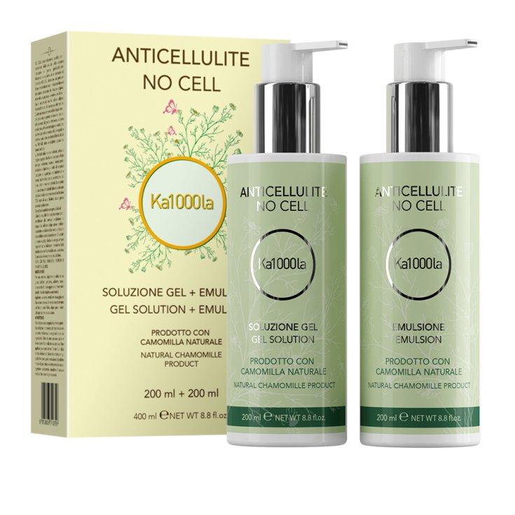 Ka1000la No Cell Anticellulite Gel Solution 200ml + Emulsion 200ml