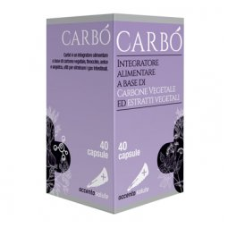 Accento Salute Carbò Food Supplement 40 Capsules