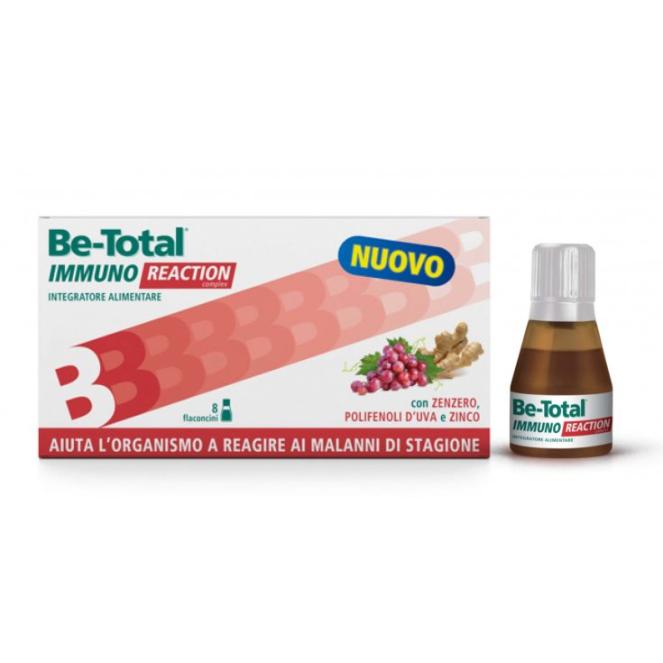 Be-Total Immuno Reaction Food Supplement 8 small bottles