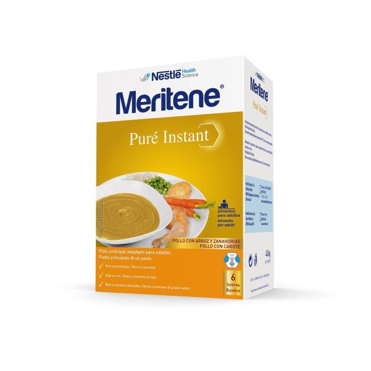 Meritene Chicken Puree With Patatas Y Zanahorias 6 Sobres
