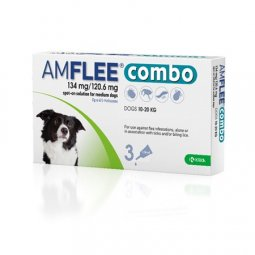 AMFLEE® Combo 134mg / 120,6mg Dogs (10-20Kg) KRKA 3 Pipettes