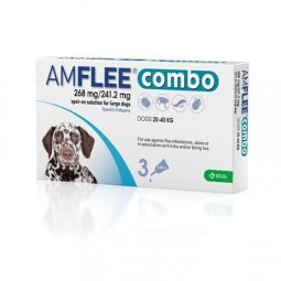 AMFLEE® Combo 268mg / 241,2mg Dogs (20-40Kg) KRKA 3 Pipettes