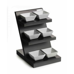 3 Tier Stand With 6 Pintinox Porcelain Bowls