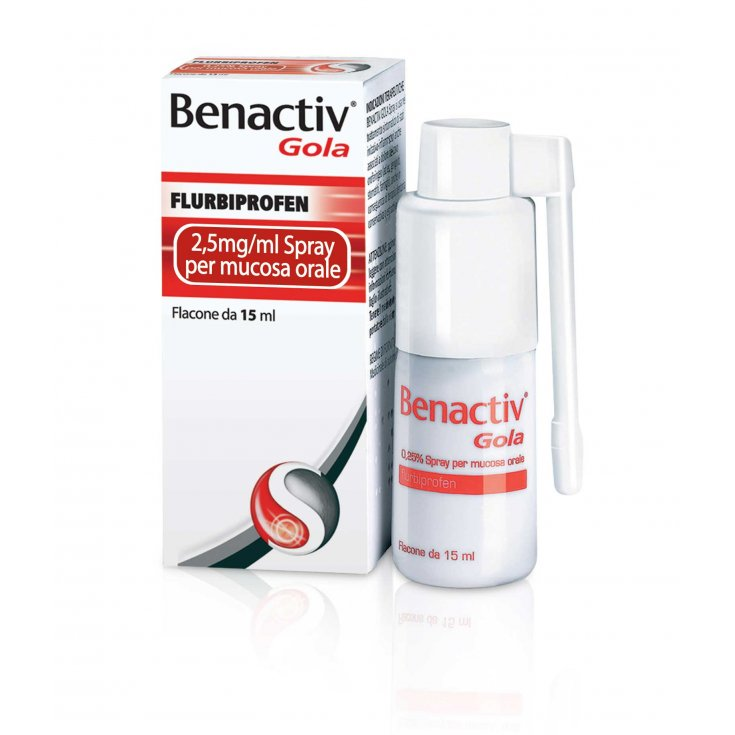 Benactiv Throat Spray For Oral Mucosa Reckitt Benckiser 15ml