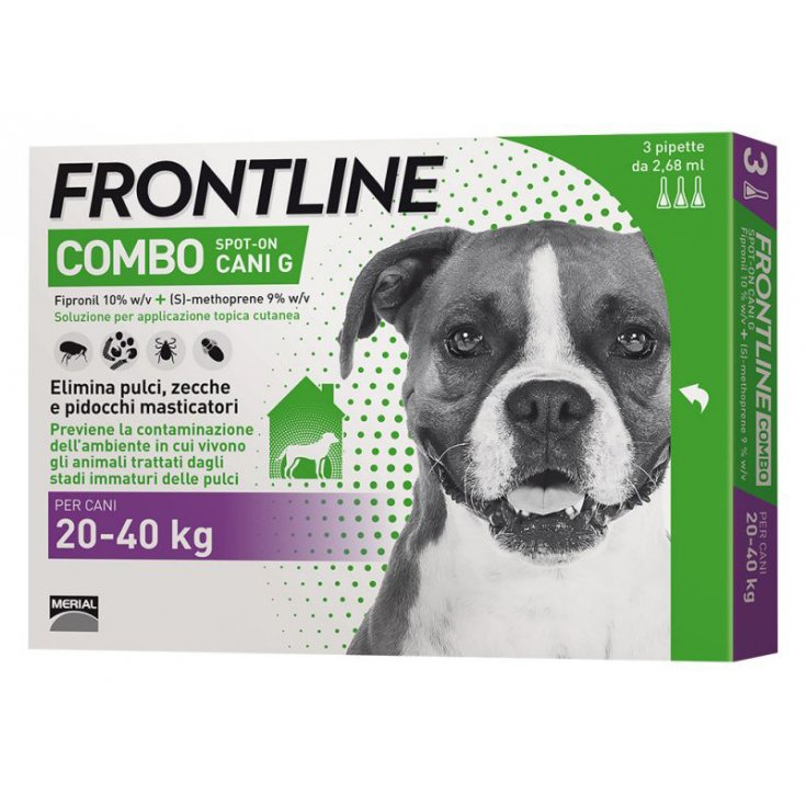 FRONTLINE® COMBO SPOT-ON DOGS 20-40Kg 3 Pipettes of 2.68ml