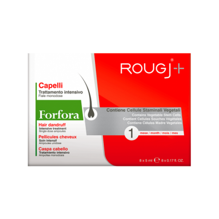 Vials Dandruff Capillary Lotion 1 Month Rougj 8x5ml