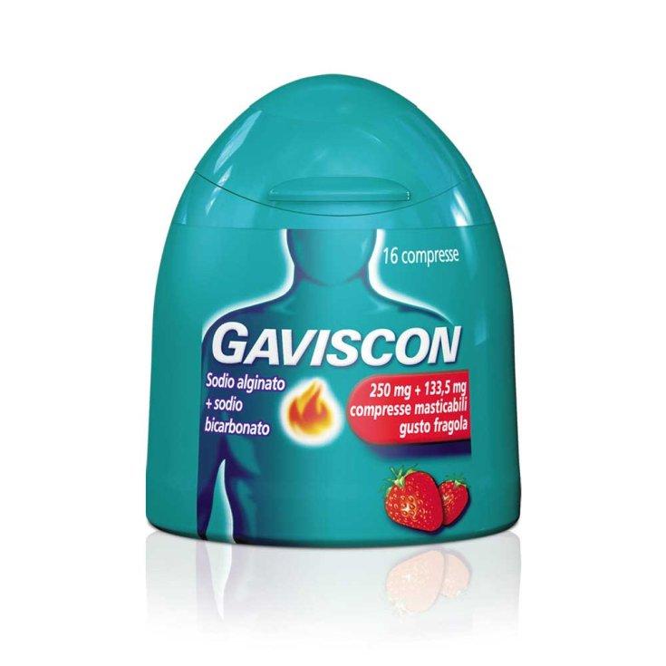 Gaviscon 250mg + 133.5mg Strawberry Taste 16 Tablets