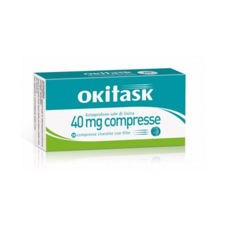 Okitask 40mg Dompé 20 Coated Tablets