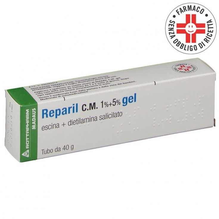 Reparil 1% CM + 5% Minor Trauma Gel Madaus 40g