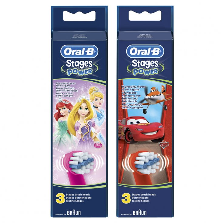 Stages Power Replacement Toothbrush Heads Cars / Princesse Oral-B® 3 Pieces