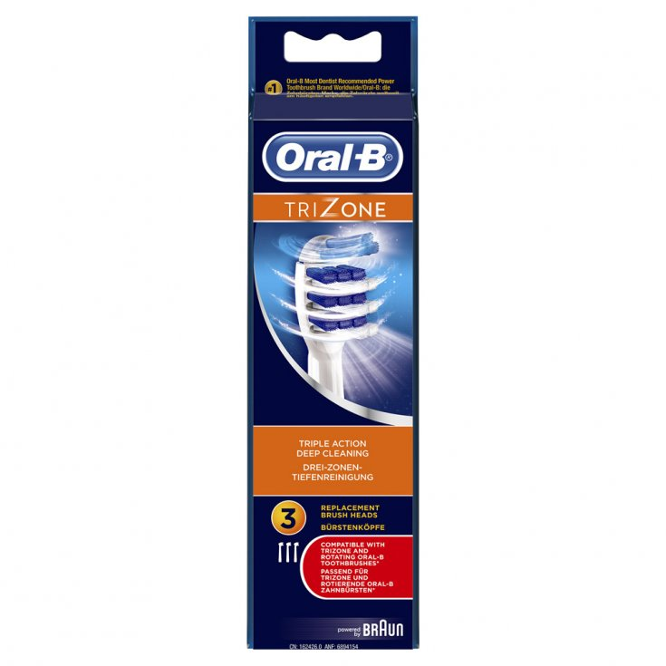 TriZone Oral-B® Toothbrush Heads 3 Pieces