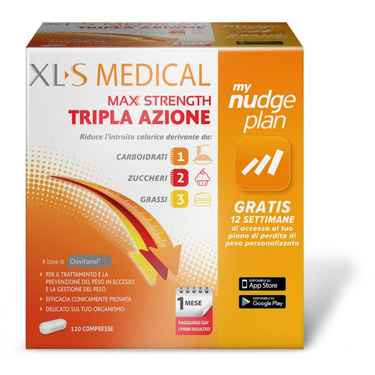 XLS Medical Max Strength Triple Action 120 Tablets