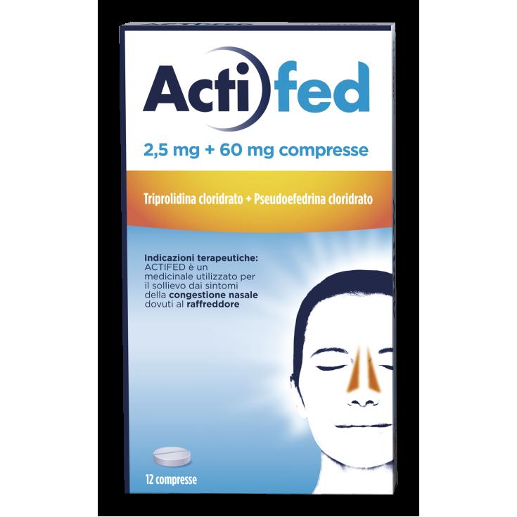 ACTIFED 2,5mg + 60mg 12 Tablets