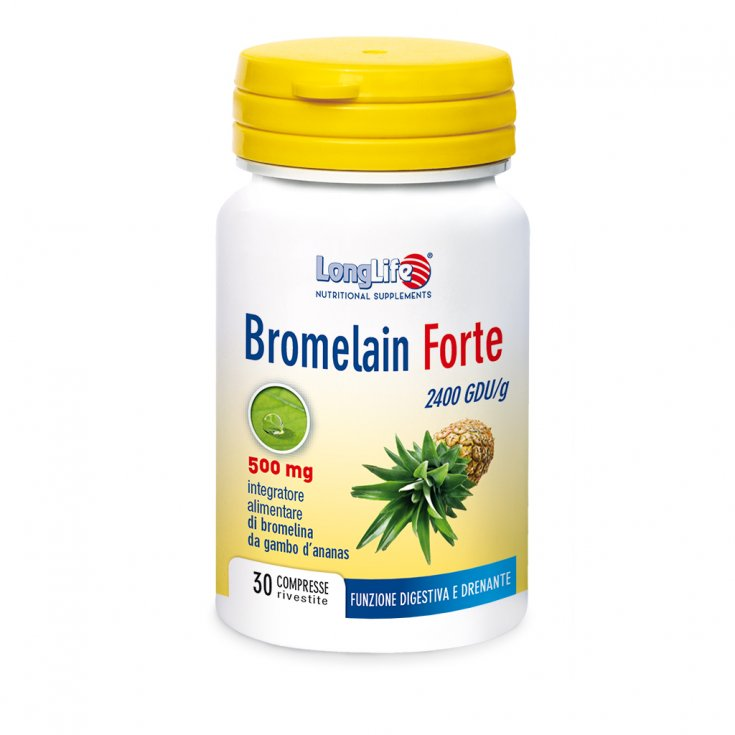 Bromelain Forte 500mg LongLife 30 Coated Tablets