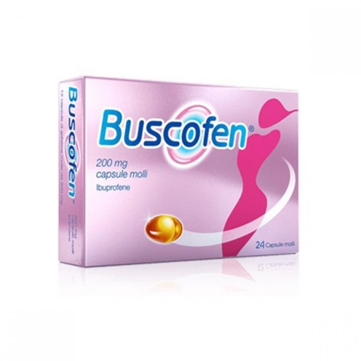 Buscofen 200mg Sanofi 24 Soft Capsules