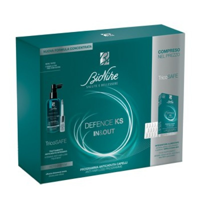 Defense KS Bipack IN & OUT Hair loss treatment + BioNike supplement