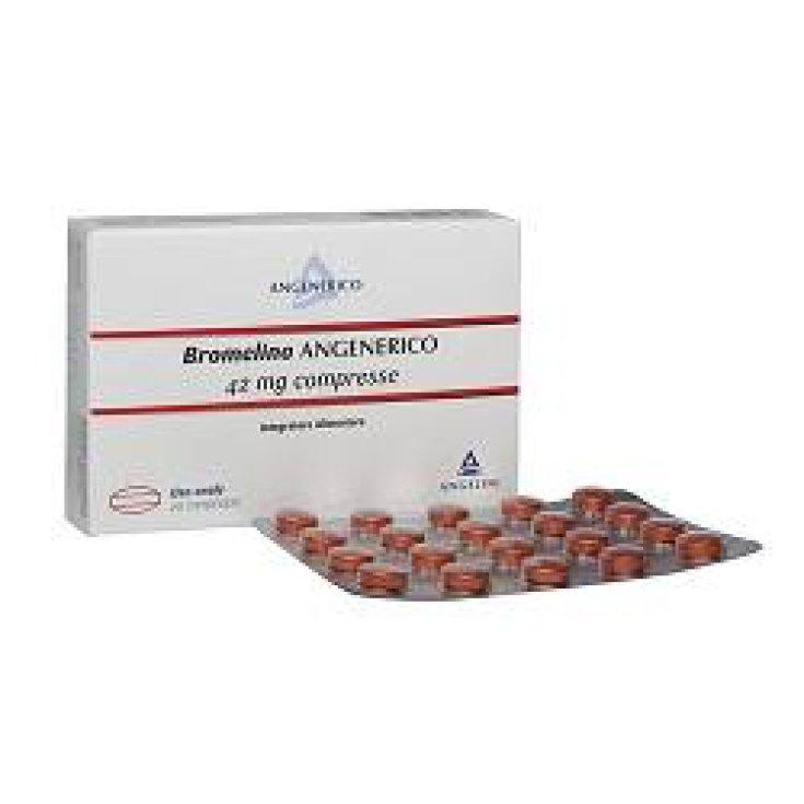 Angelini Bromelina Angenerico Food Supplement 20 coated tablets