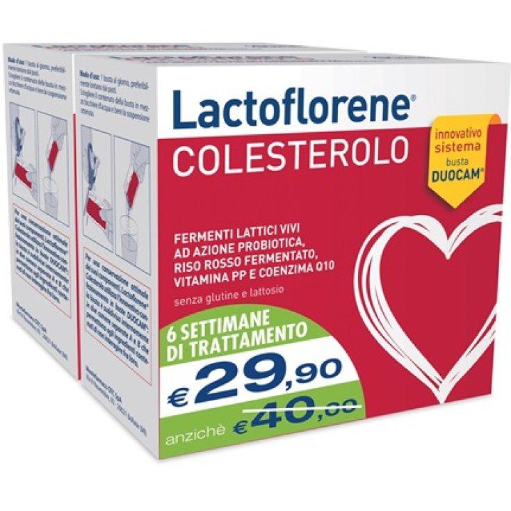 Montefarmaco OTC Lactoflorene Cholesterol Food Supplement Bipac 20 + 20 Duopac Bags