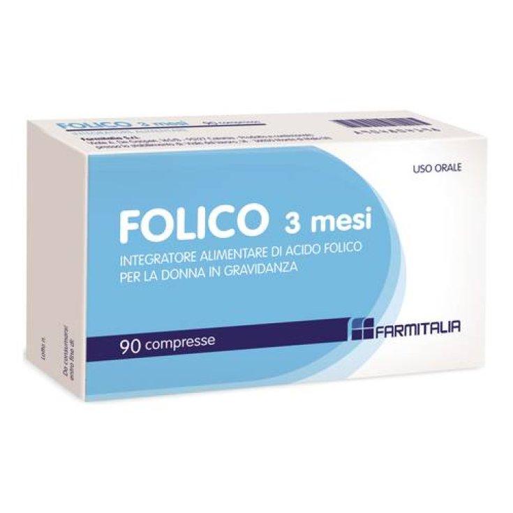 Folic 3 Months Farmitalia 90 Tablets