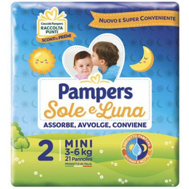 Pampers Sole & Luna Size 2 MINI (3-6Kg) 21 Diapers