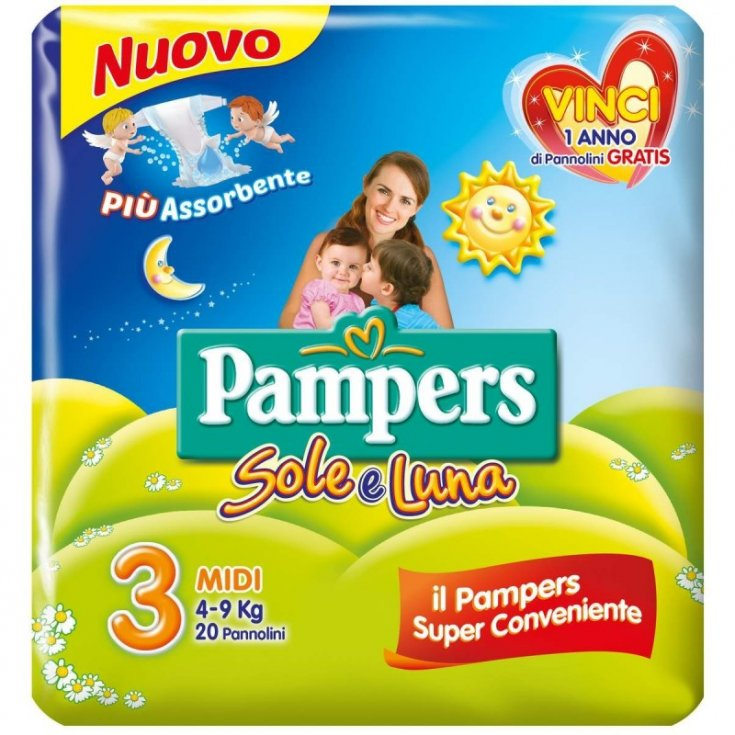 Pampers Sole & Luna Size 3 MIDI (4-9Kg) 20 Diapers
