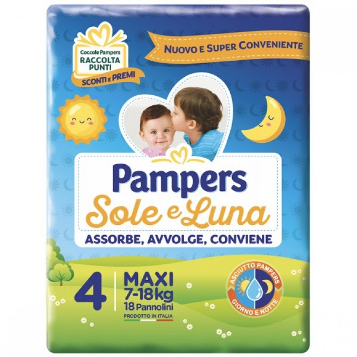 Pampers Sole & Luna Size 4 MAXI (7-18kg) 18 Diapers