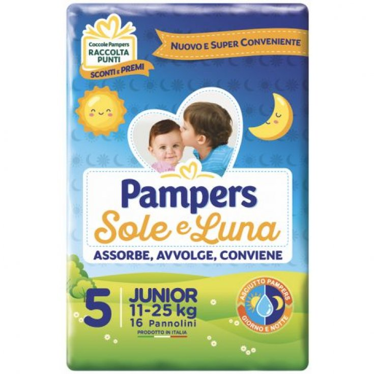 Pampers Sole & Luna Size 5 JUNIOR (11-25kg) 16 Diapers