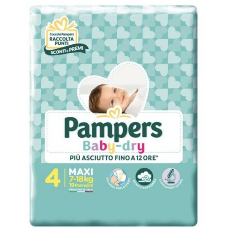 Pampers Baby Dry Size 4 MAXI (7-18Kg) 19 Diapers