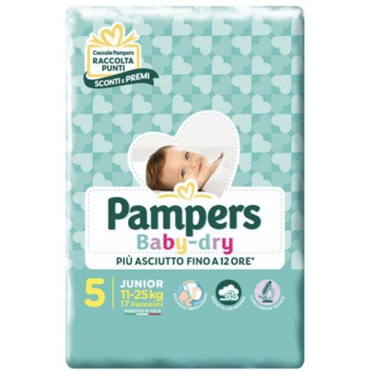 Pampers Baby Dry Size 5 JUNIOR (11-25Kg) 17 Diapers