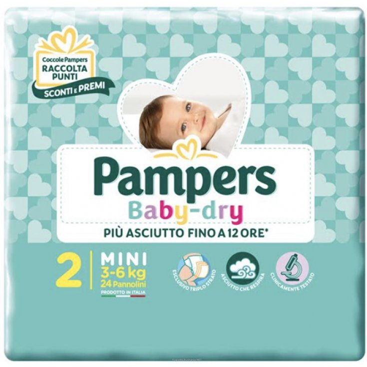 Baby Dry Size 2 Mini (3-6Kg) Pampers 24 Diapers