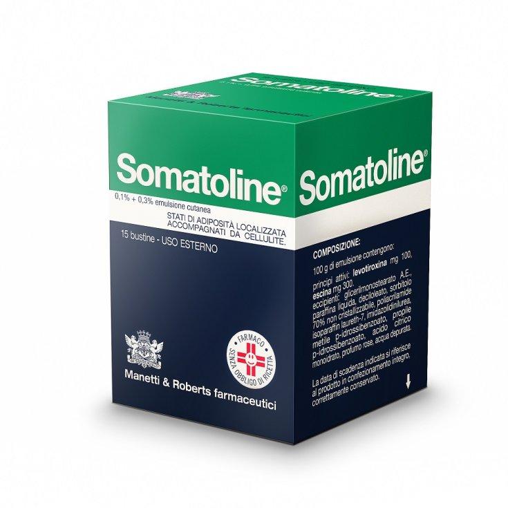 Somatoline 0.1% + 0.3% Skin Emulsion Manetti & Roberts Farmaceutici 15 Sachets