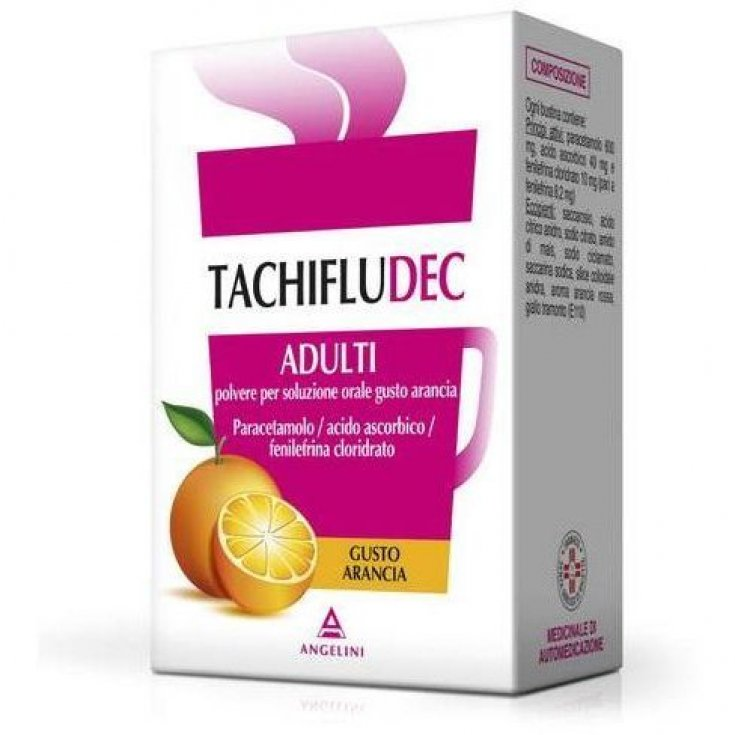 TachifluDdec Angelini 10 Orange Sachets