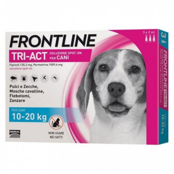 Tri-Act Dogs 10-20Kg FrontLine 3x2ml