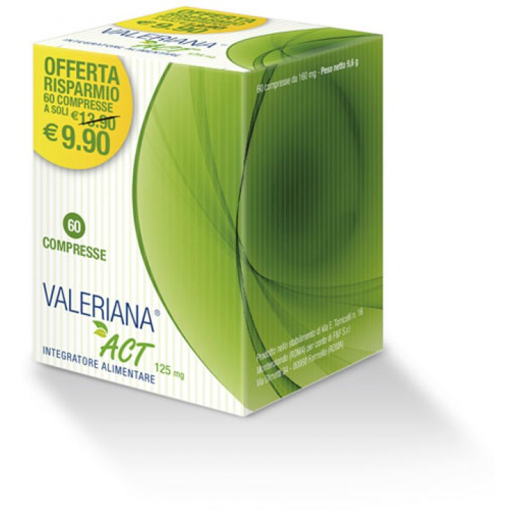 Valeriana® Act 125mg F&F 60 Tablets